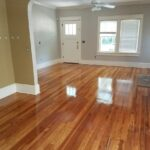 Polished and clean wood floors